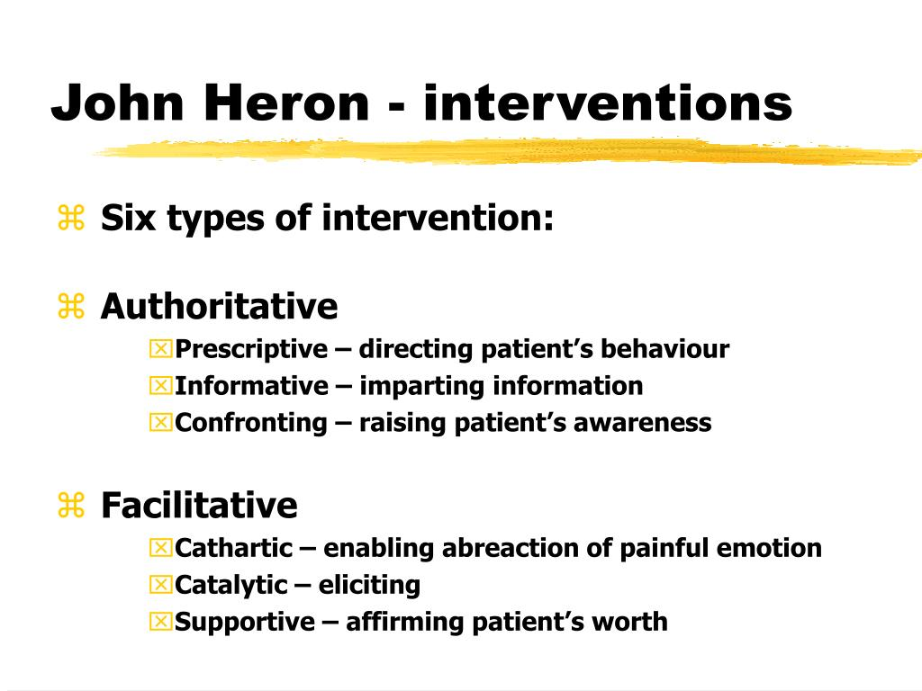 John Heron - interventions