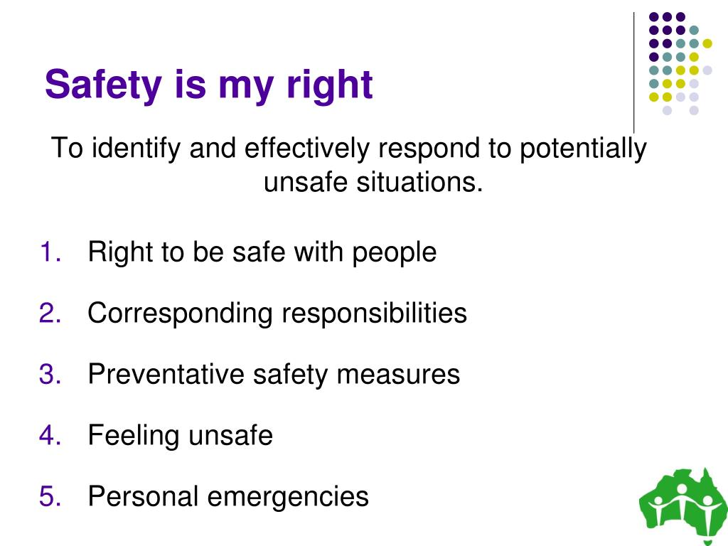 Safety is my right