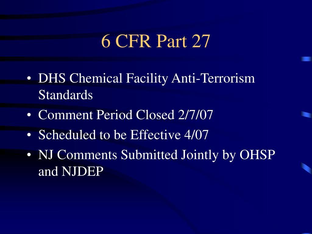6 CFR Part 27