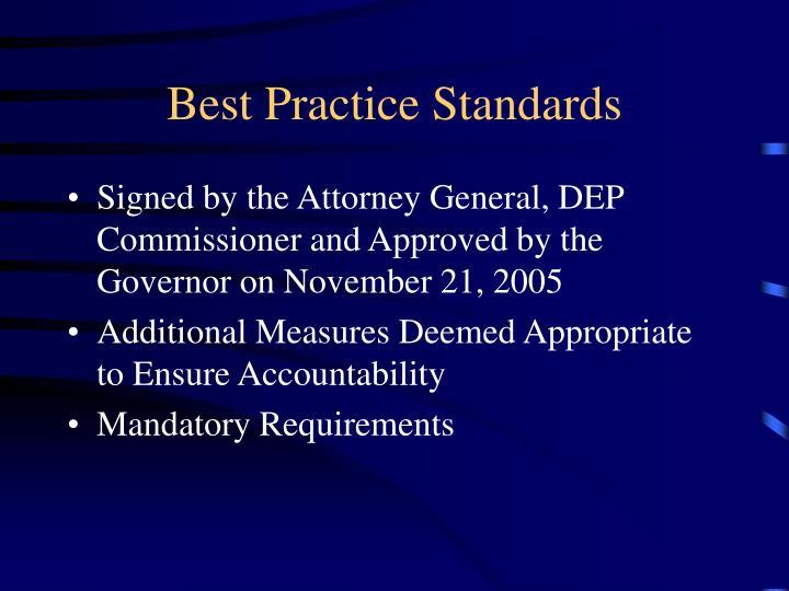 Best practice standards