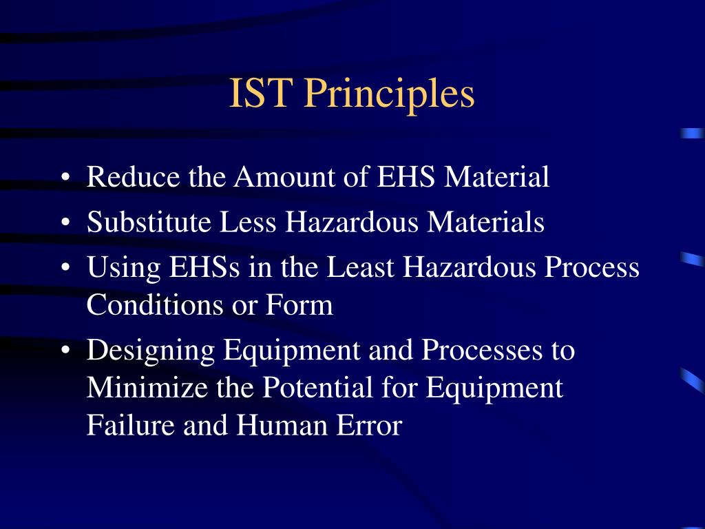 IST Principles