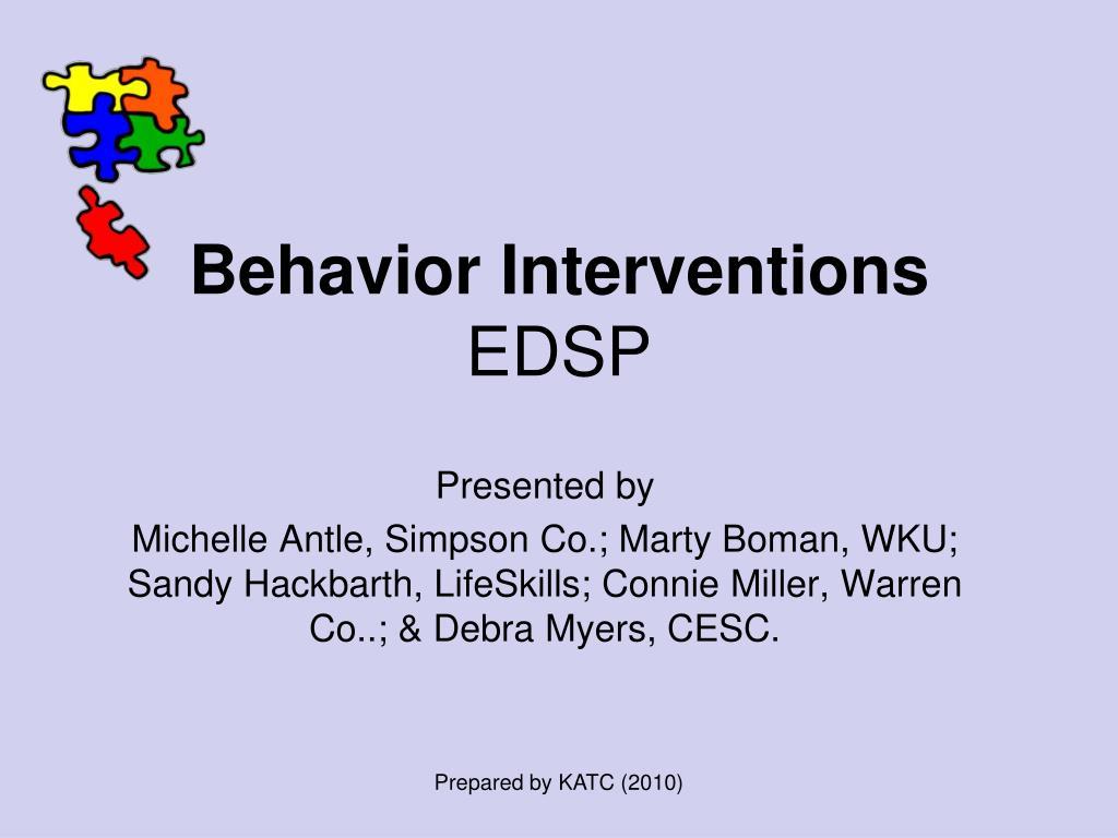 behavior interventions edsp l.