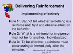 delivering reinforcement74