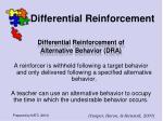 differential reinforcement42