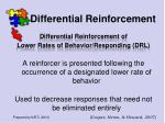 differential reinforcement50