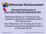 differential reinforcement51