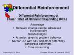 differential reinforcement52