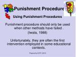 punishment procedures