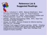 reference list suggested readings137