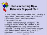 steps in setting up a behavior support plan121