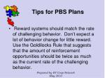 tips for pbs plans125