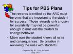 tips for pbs plans126