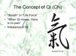 the concept of qi chi