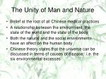 the unity of man and nature