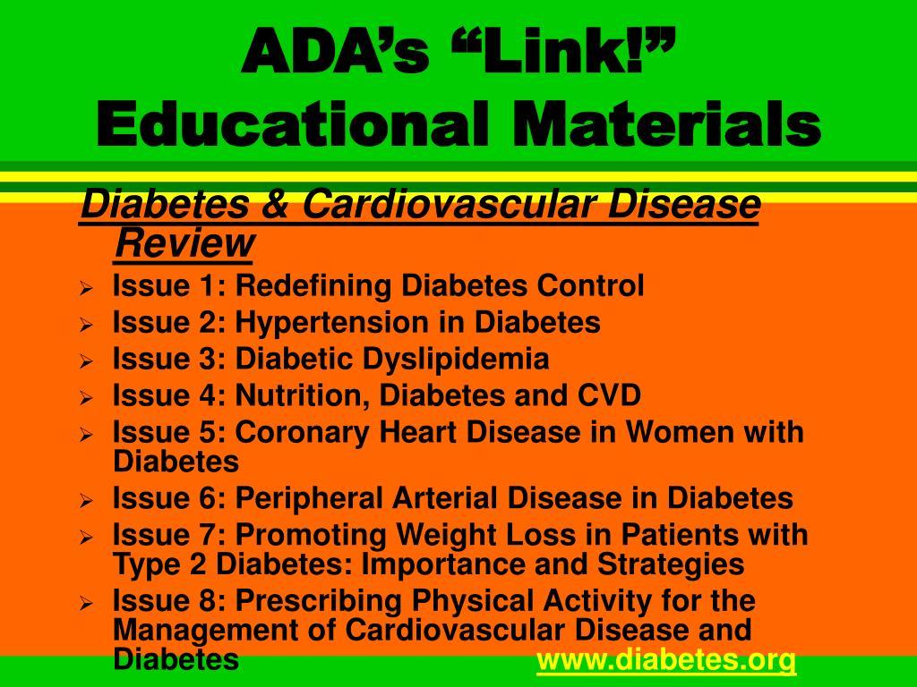 "ADA's ""Link!"" Educational Materials"