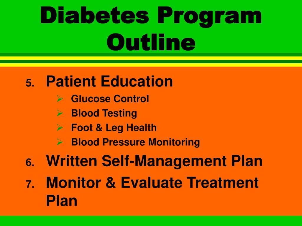 Diabetes Program Outline