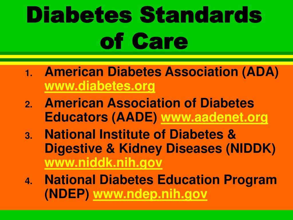 Diabetes Standards of Care