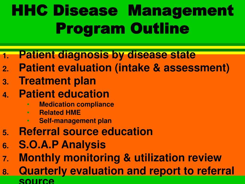 HHC Disease  Management Program Outline