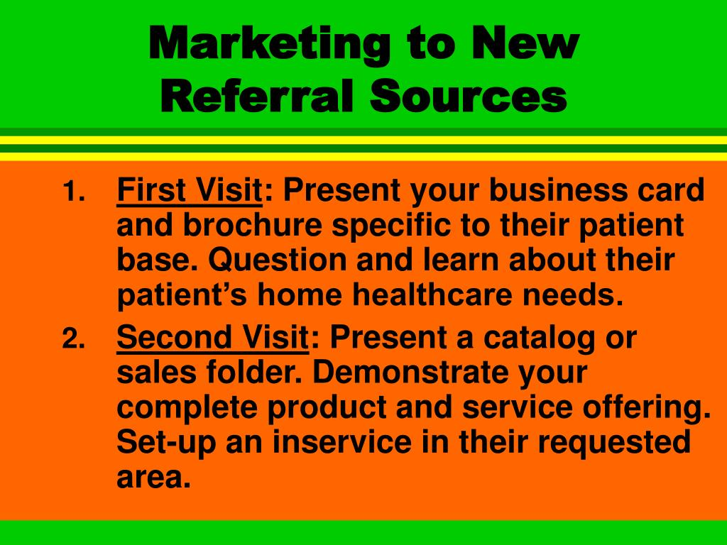 Marketing to New Referral Sources