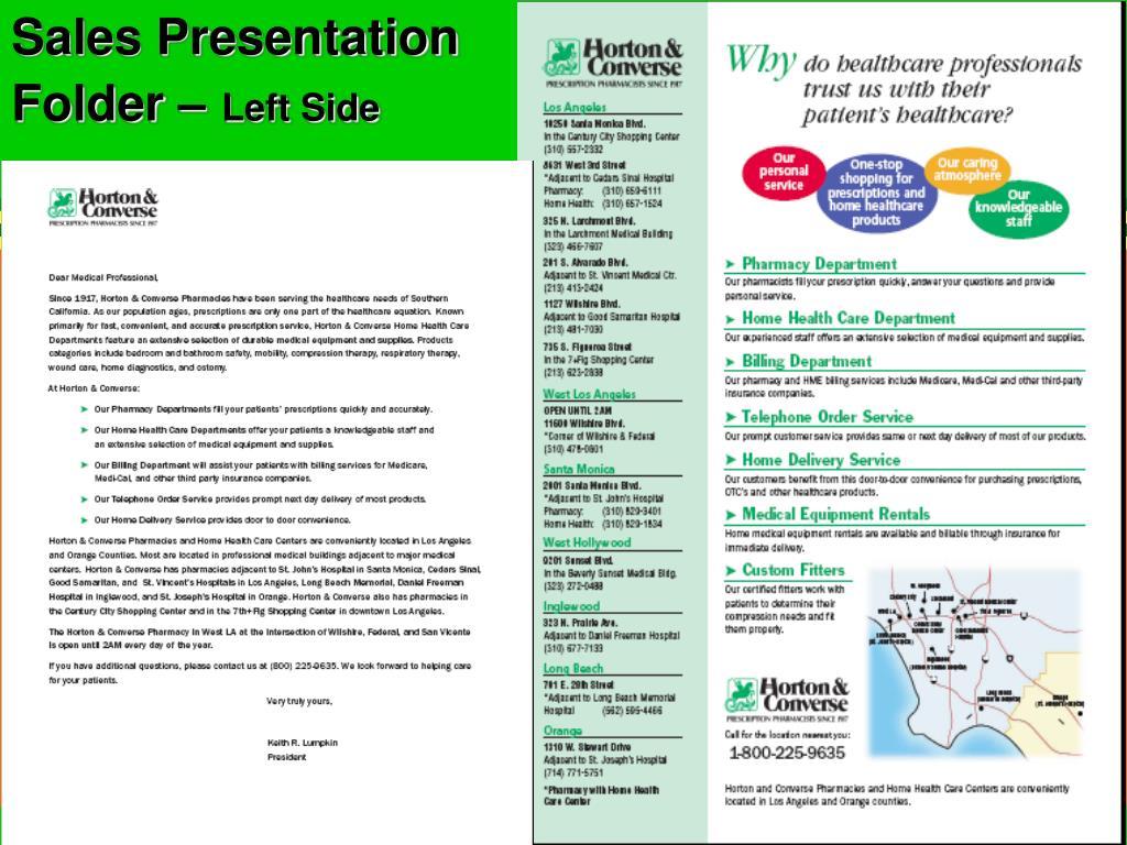 Sales Presentation Folder –