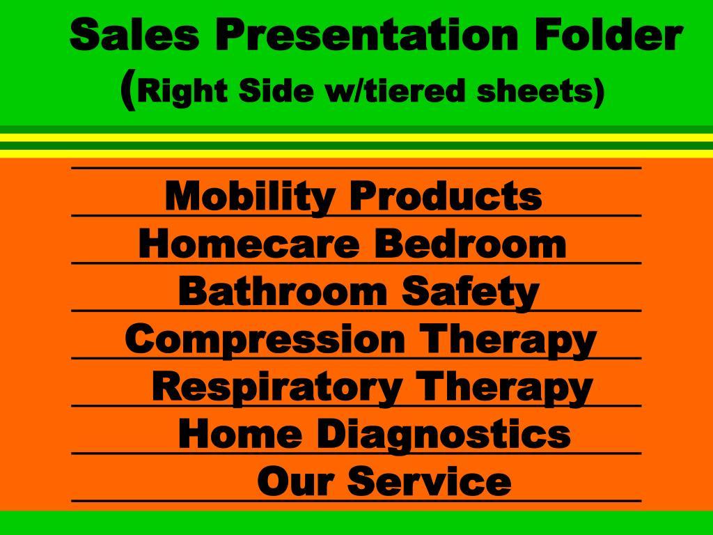 Sales Presentation Folder (