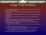 large final emitters