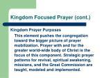 kingdom focused prayer cont24
