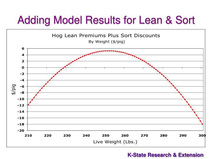 Adding Model Results for Lean & Sort