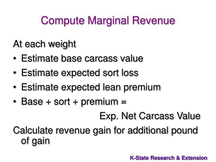 Compute Marginal Revenue