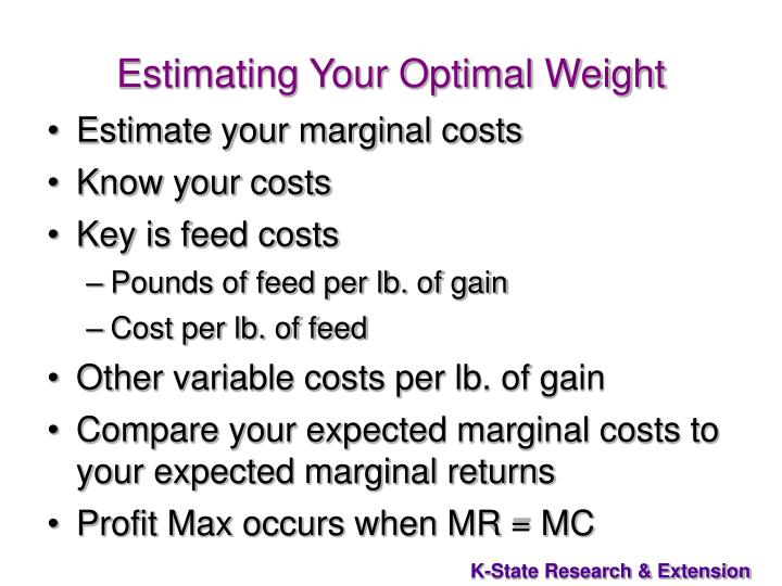 Estimating Your Optimal Weight