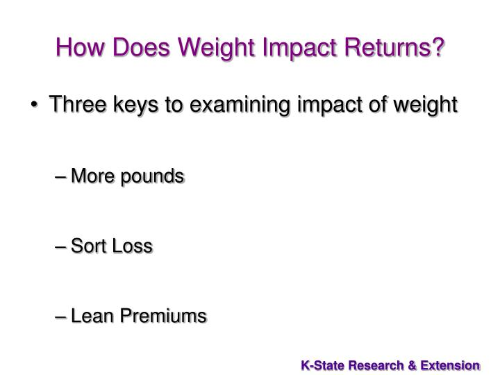 How Does Weight Impact Returns?