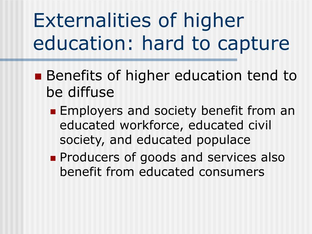 Externalities of higher education: hard to capture