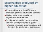 externalities produced by higher education