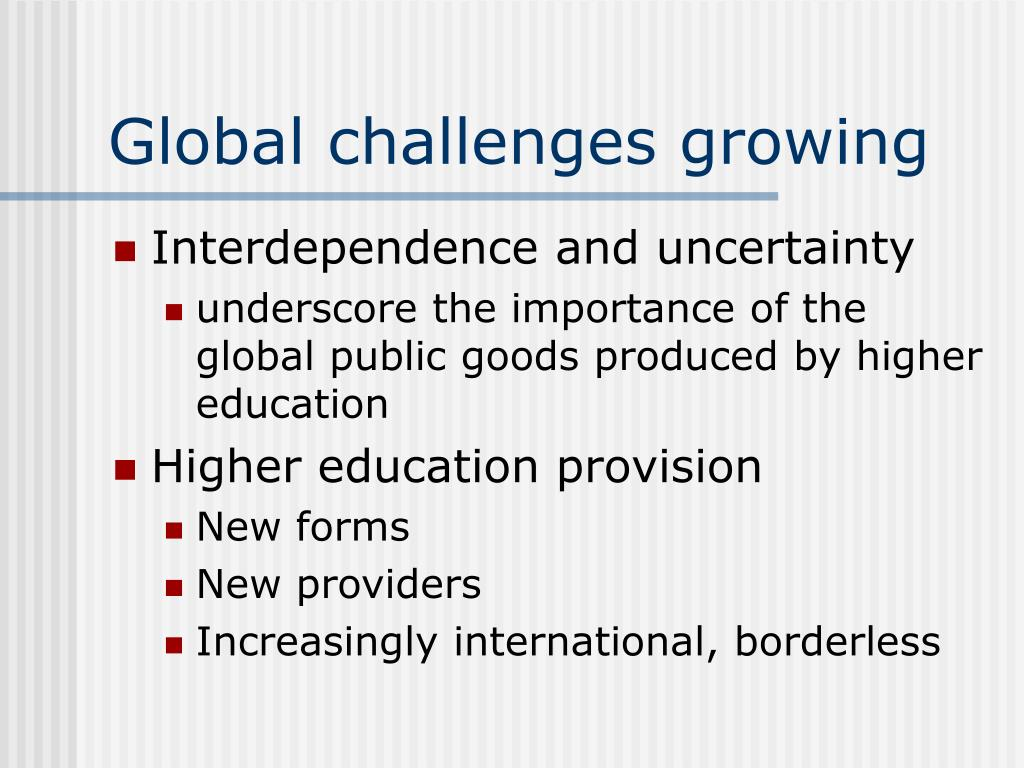 Global challenges growing