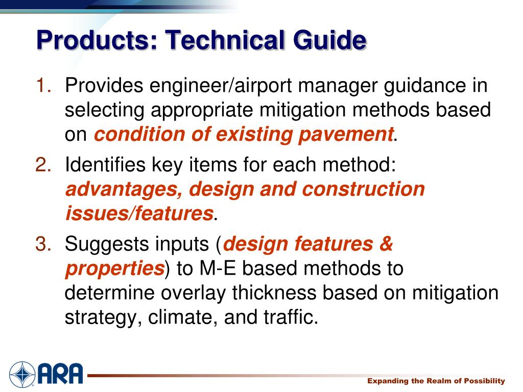 Products: Technical Guide