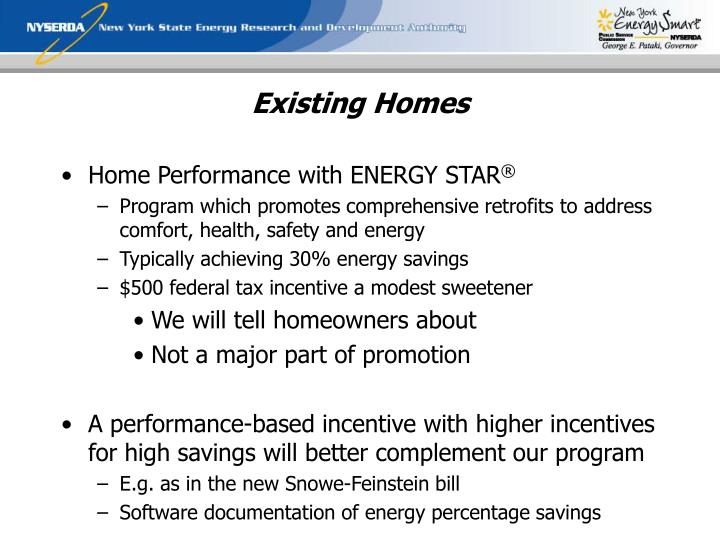Existing Homes