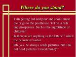 where do you stand59