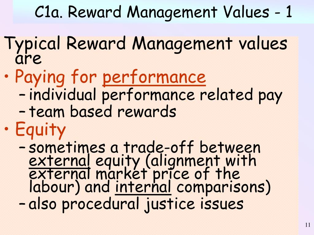 C1a. Reward Management Values - 1