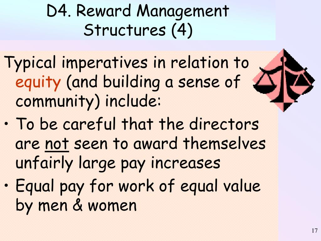 D4. Reward Management Structures (4)