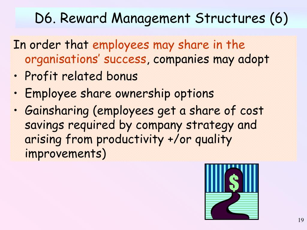 D6. Reward Management Structures (6)