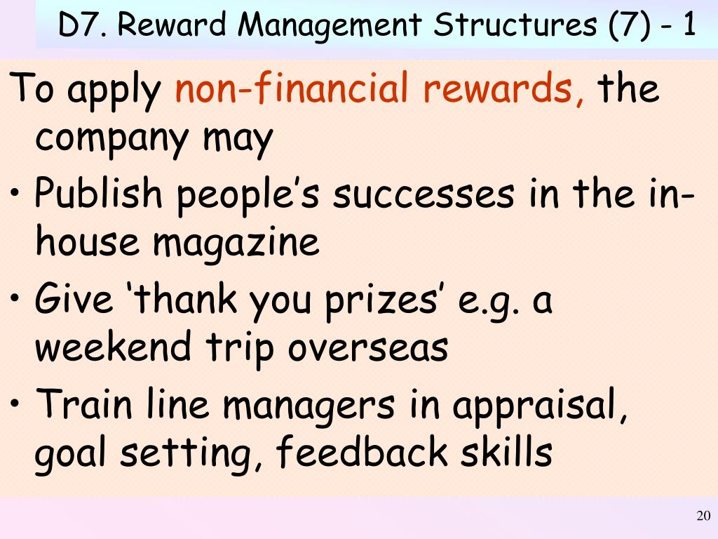D7. Reward Management Structures (7) - 1