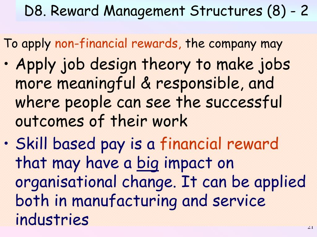 D8. Reward Management Structures (8) - 2