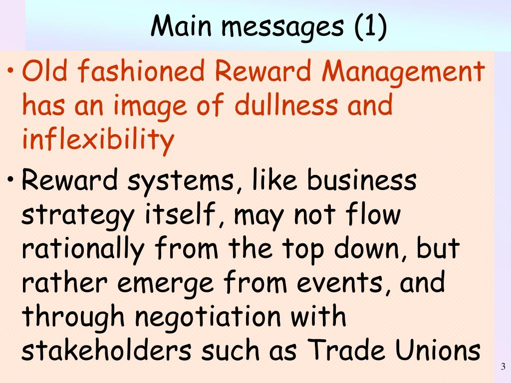 Main messages (1)