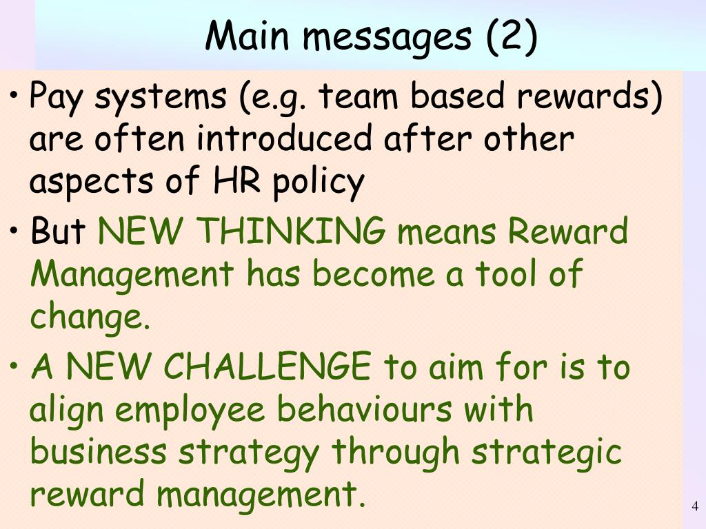 Main messages (2)