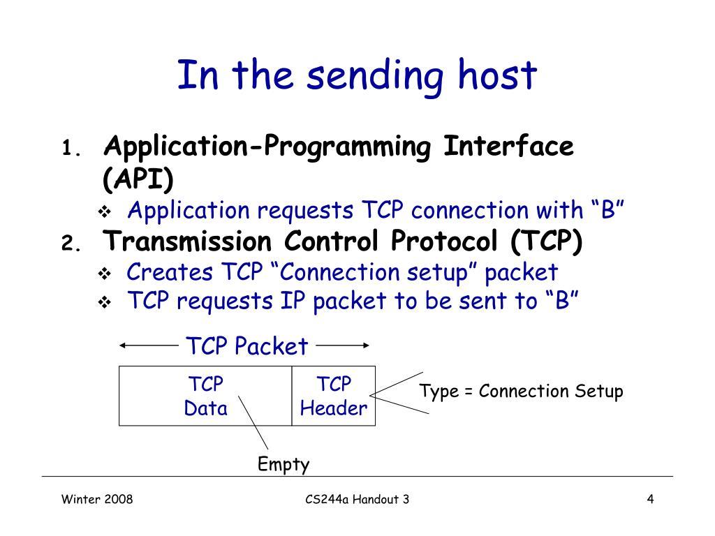 In the sending host