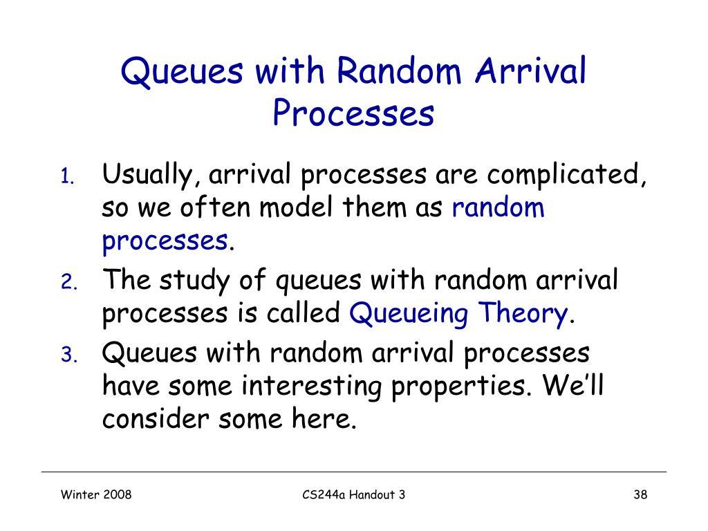 Queues with Random Arrival Processes