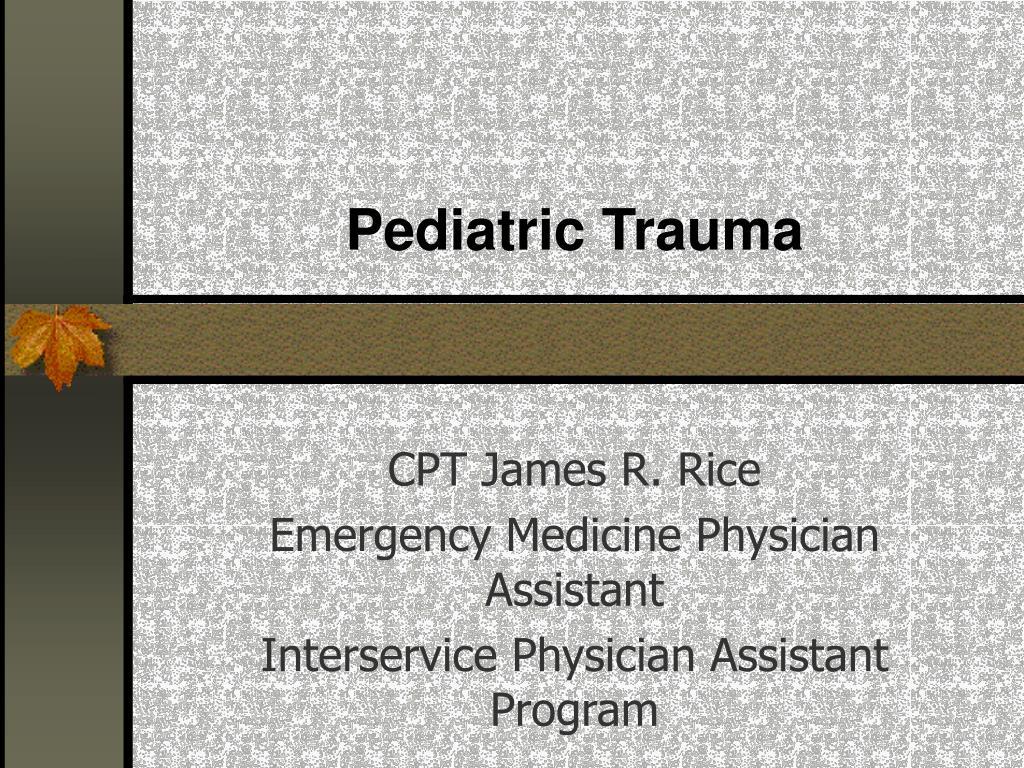 pediatric trauma l.