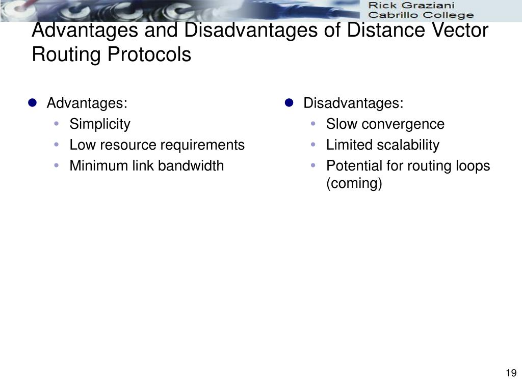 Advantages and Disadvantages of Distance Vector Routing Protocols