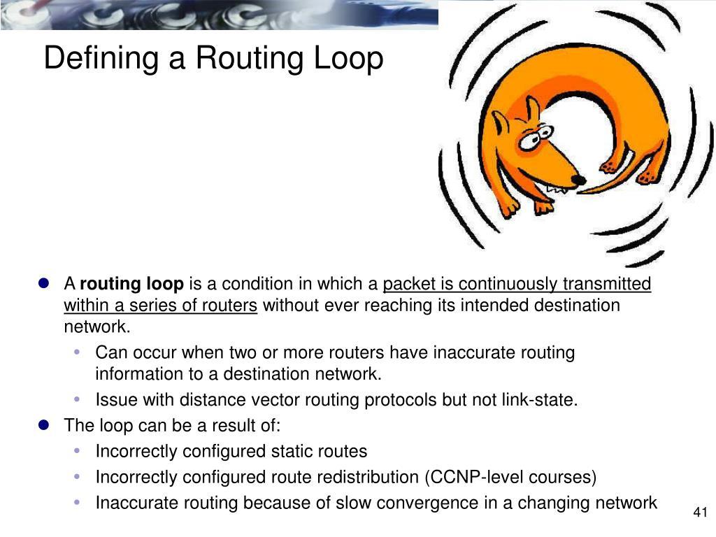 Defining a Routing Loop