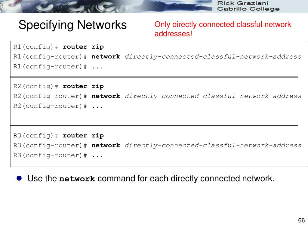 Specifying Networks